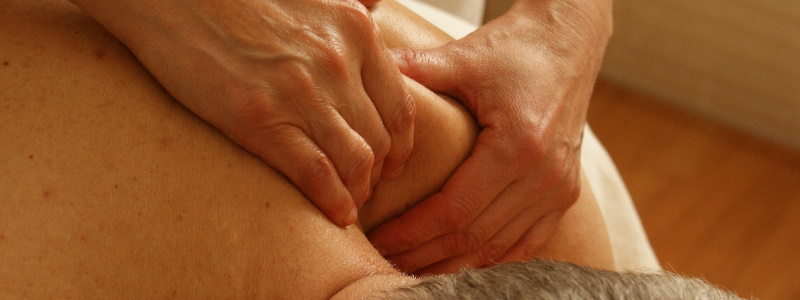 manual therapy example by massaging